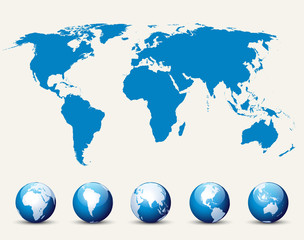 World map and globe detail vector buy this stock vector and see more gumiabroncs Image collections