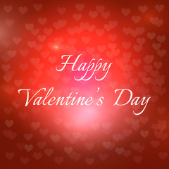 Congratulatory background of Valentine's day