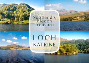 Loch Katrine, Scotland as travel destination concept
