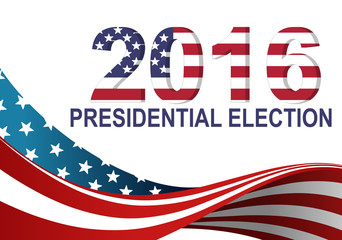2016 presidential election with american flag