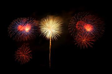Fireworks rocket for Celebration on black Background