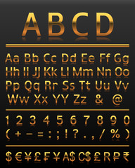 Alphabet set 2 gold all letters