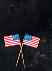 USA paper flags