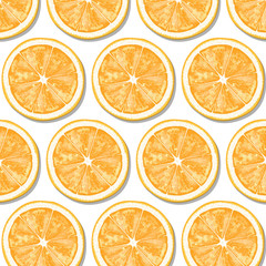 Pattern of orange slices.