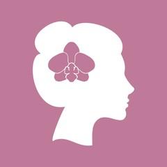 девушка и орхидея