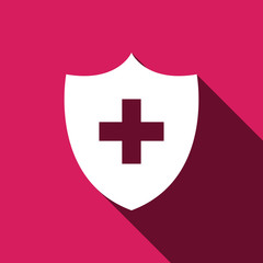 Medical security, medical shield icon for web and mobile