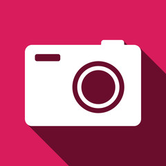 Photo camera sign icon for web and mobile.