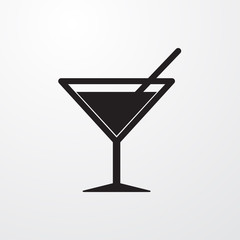 Coctail icon for web and mobile.