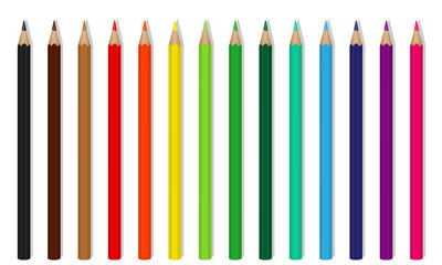 Vector colored wooden pencils