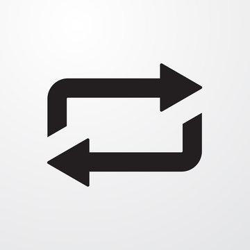 Repeat, loop sign icon