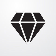Diamond sign icon for web and mobile.