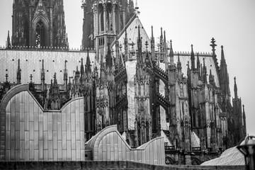 Kölner Dom (schwarzweiß)