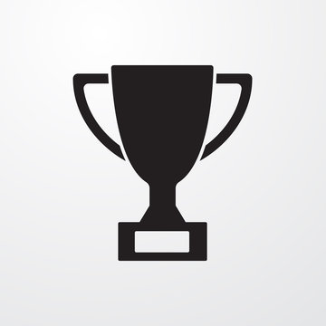 Trophy sign icon for web and mobile.