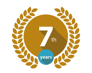 7th years gold circle anniversary logo