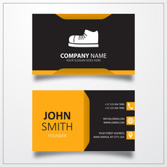Sneakers icon. Business card vector template.