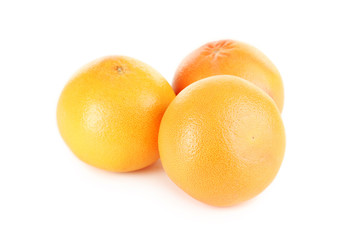 Grapefruit fruits isolated on a white background