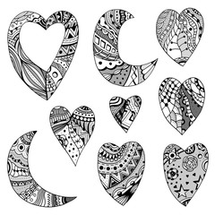 hearts and crescent