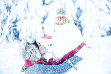 winter time kiss