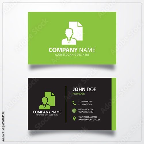 Personal details icon business card vector template stock image personal details icon business card vector template reheart Images