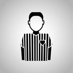 Football referee icon