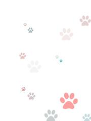 Coloured random paw print design
