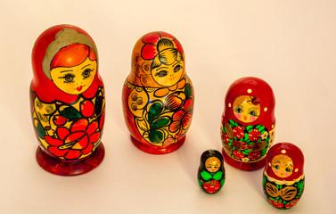 Russian wooden toy Matryoshka - multi family