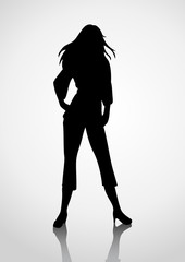 Silhouette Illustration Of A Woman