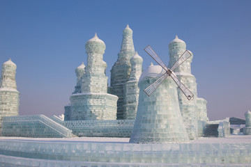Windmill made from ice