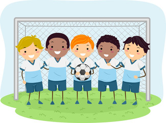 Stickman Kids Soccer Boys