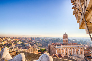 ancient roofs of Rome