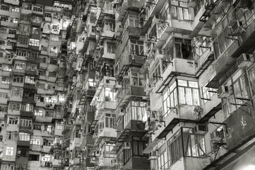 Old apartment building in Hong Kong Wall mural