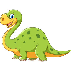 Cute dinosaur mascot isolated on white background