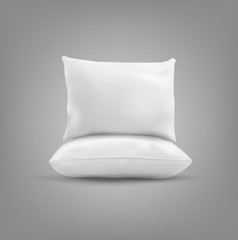 Two vector pillow isolated on a gray background