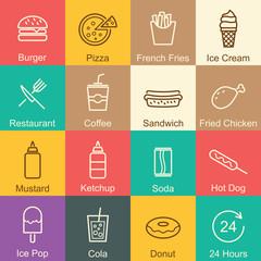 fast food outline design