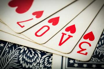 poker card game arrange love text