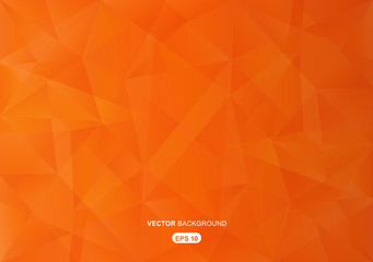 orange abstract  geometric background with polygons