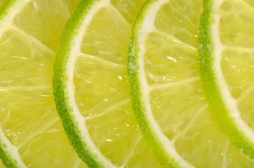 The fresh lime a background closeup