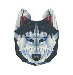 wolf poligon black