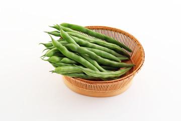 新鮮なインゲン豆