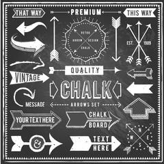 Vintage Chalkboard Arrows