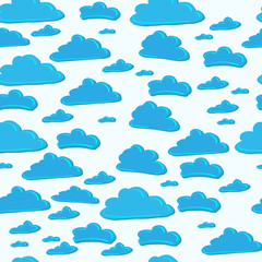 pattern of blue sky with clouds