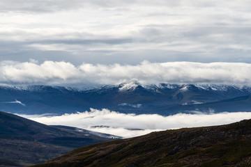 Paisaje Sierra de la Cabrera. Montes de León. Macizo Galaico Leones. España.