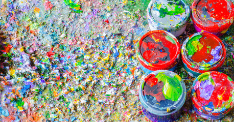 Colorful of the surface of the paint