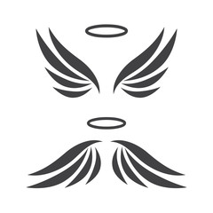 Vector sketch of angel wings