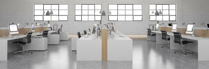 Leeres Großraumbüro von Start-Up Firma