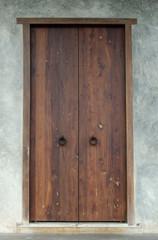 old wooden house Door