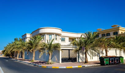 Houses in Abu Dhabi, the capital of the Emirates