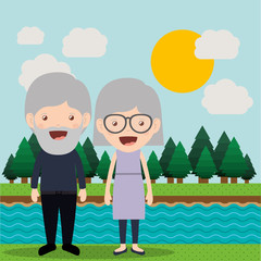 happy grandparents design