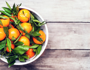 ..Fruit background - Bunch of fresh tangerines oranges on market