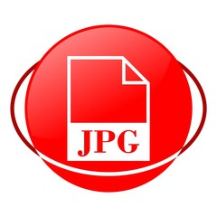 Red icon, jpg file vector ilustration